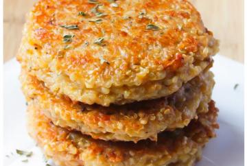 hamburguesas de quinoa veganas vegetarianas light. Nutricionista Stefanie Heguy Montevideo Uruguay